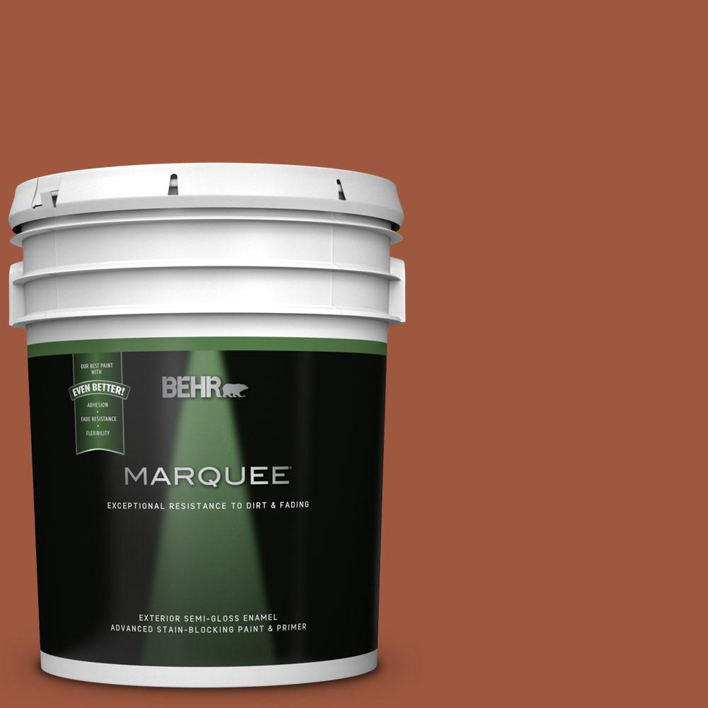 5 gal. Home Decorators Collection #HDC-AC-01 Nouveau Copper Semi-Gloss Enamel Exterior Paint & Primer