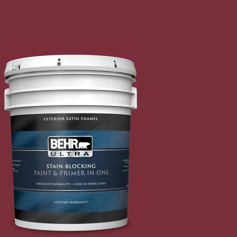 5 gal. Home Decorators Collection #HDC-CL-11 January Garnet Satin Enamel Exterior Paint & Primer
