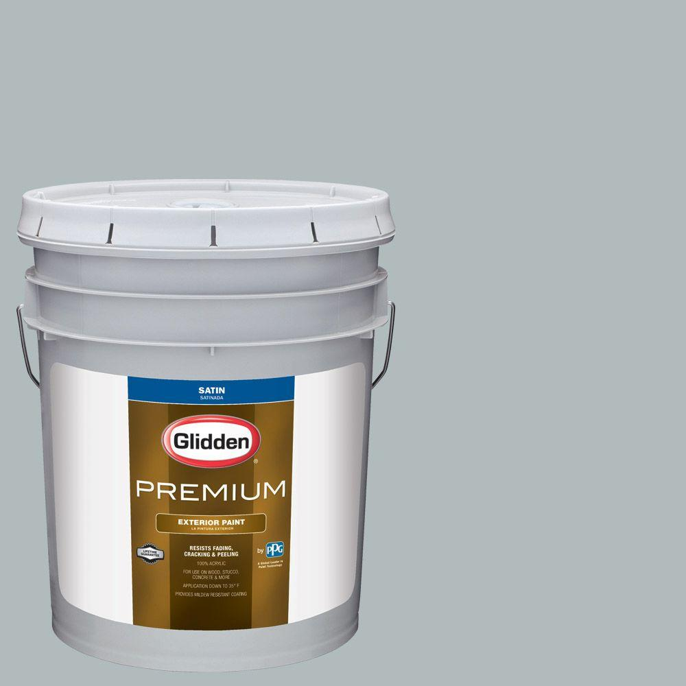 5-gal. #HDGCN24 Canadian Sky Blue Satin Latex Exterior Paint