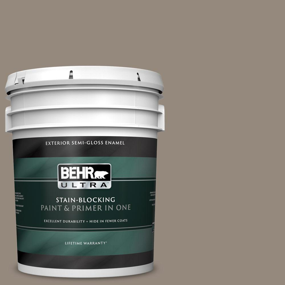 5 gal. #MQ2-57 Art District Semi-Gloss Enamel Exterior Paint and Primer in One