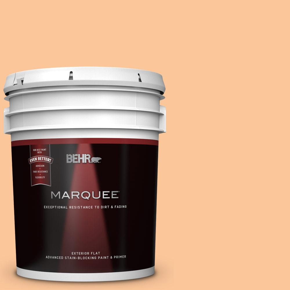 5 gal. #P230-4 Citrus Punch Flat Exterior Paint and Primer in One