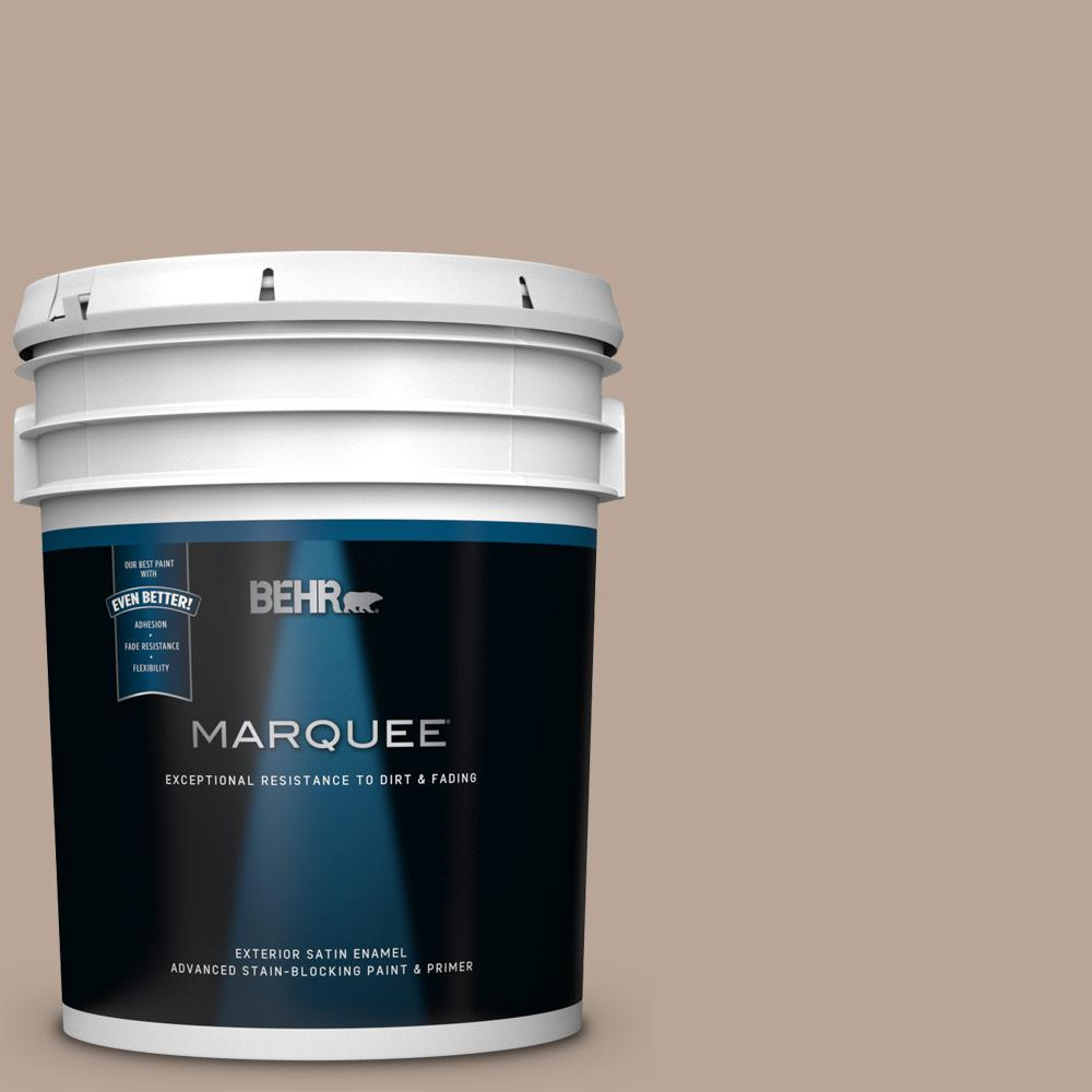 5 gal. #PPU5-14 Mesa Taupe Satin Enamel Exterior Paint and Primer in One