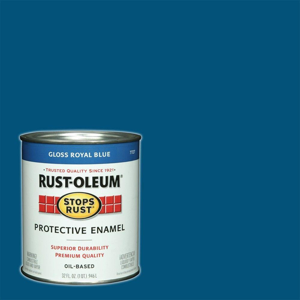 1 qt. Protective Enamel Gloss Royal Blue Interior/Exterior Paint (2-Pack)