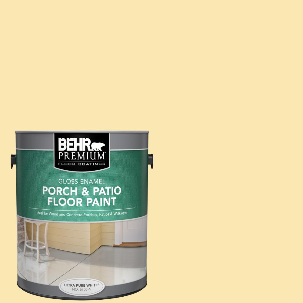 1 gal. #P280-2 Gold Thread Gloss Enamel Interior/Exterior Porch and Patio Floor Paint