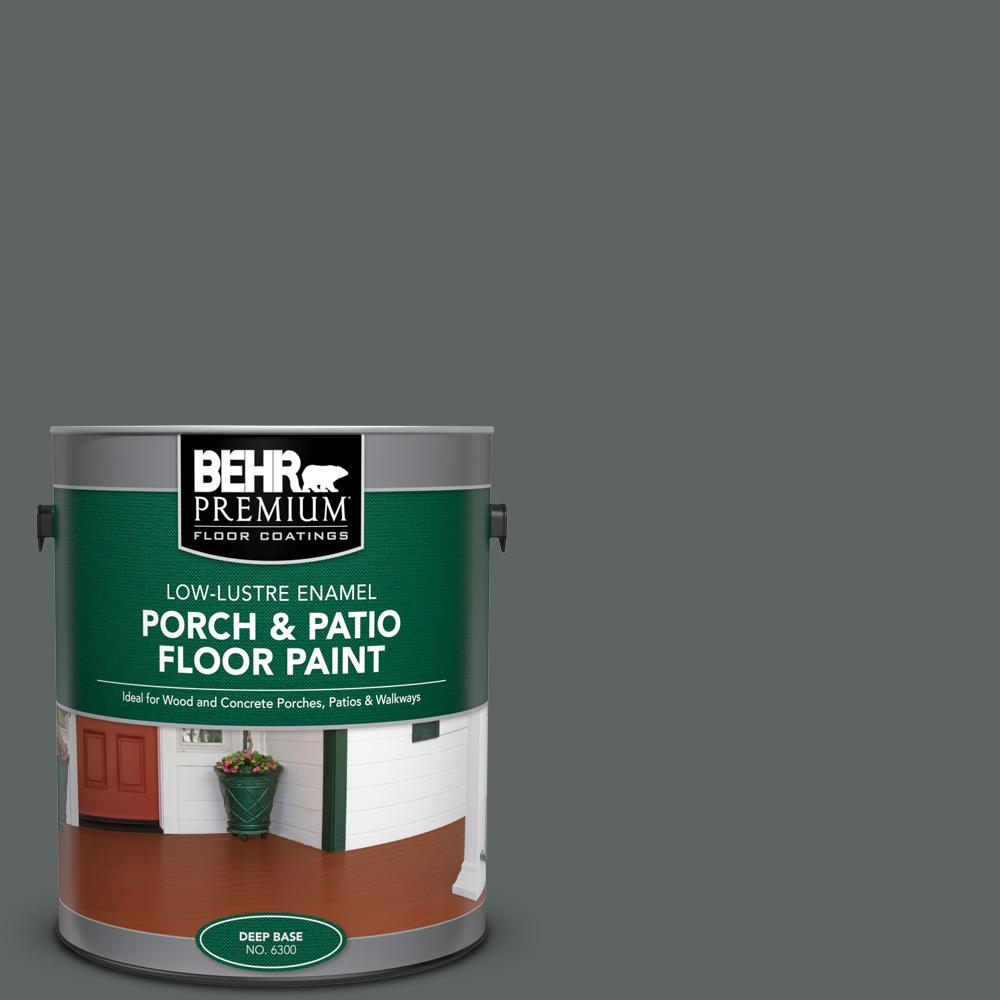 1 gal. #BXC-41 Charcoal Low-Lustre Enamel Interior/Exterior Porch and Patio Floor Paint