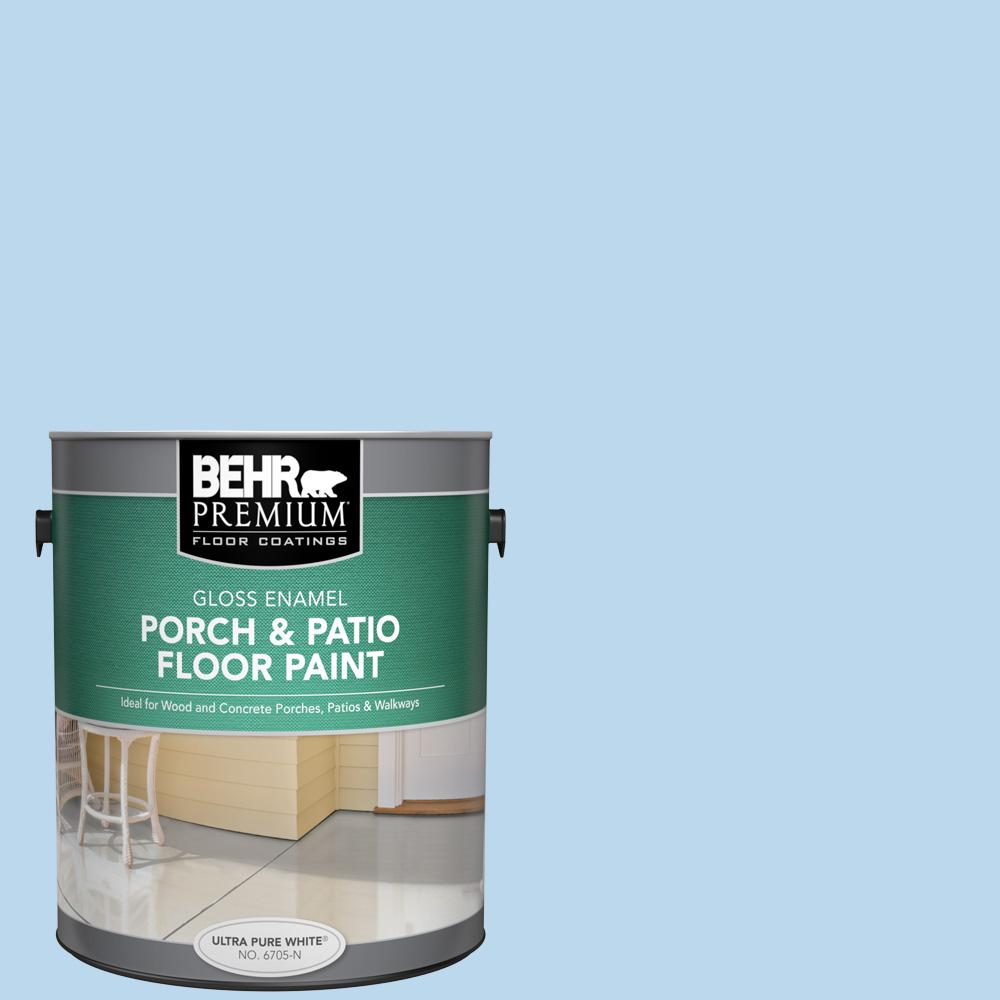 1 gal. #P520-1 First Rain Gloss Enamel Interior/Exterior Porch and Patio Floor Paint