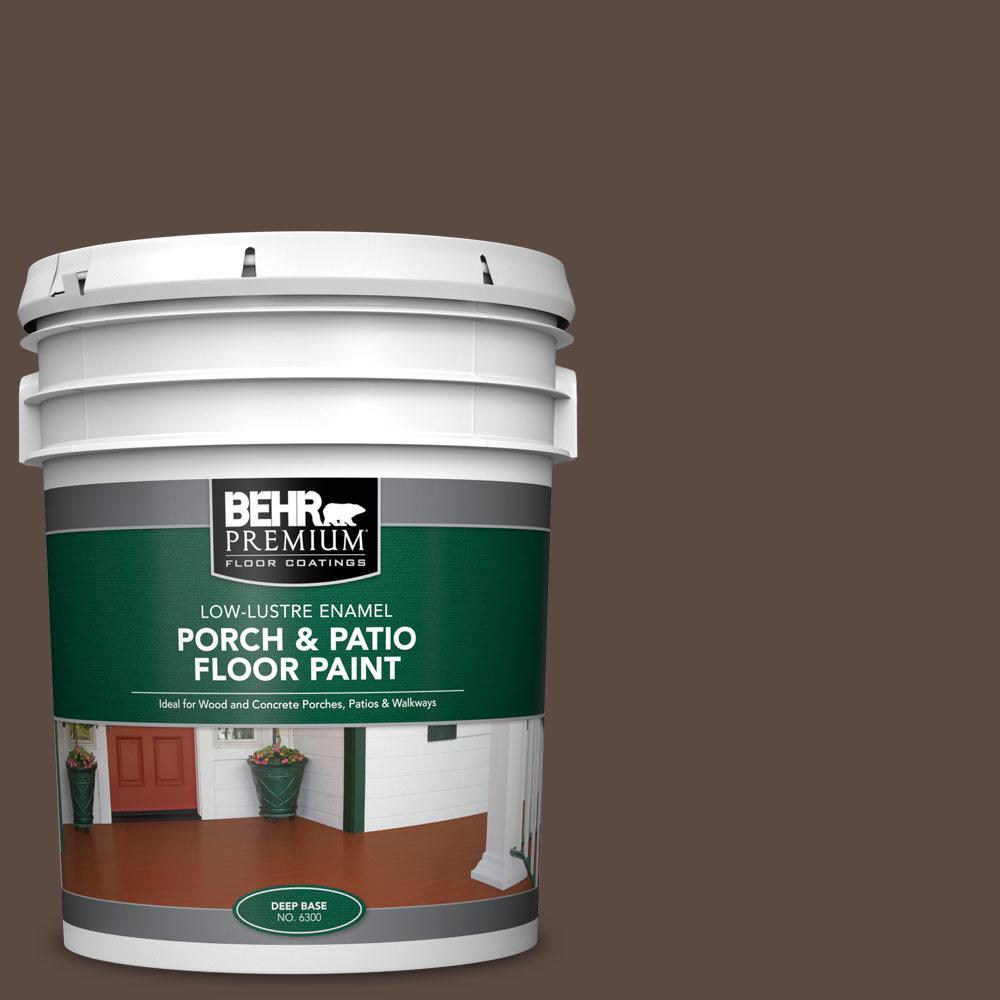 5 gal. #SC-105 Padre Brown Low-Lustre Enamel Interior/Exterior Porch and Patio Floor Paint