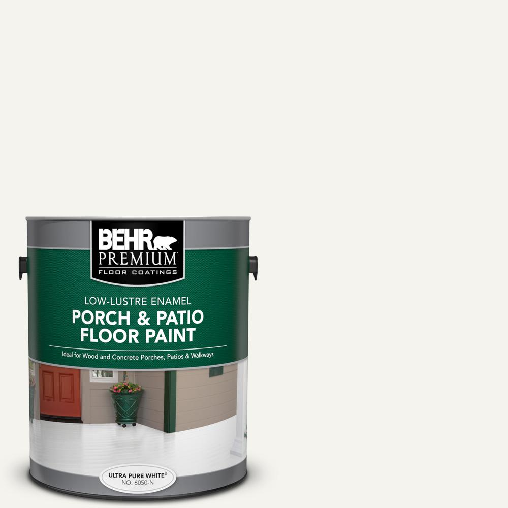 1 gal. #PWN-10 Decorator White Low-Lustre Enamel Interior/Exterior Porch and Patio Floor Paint