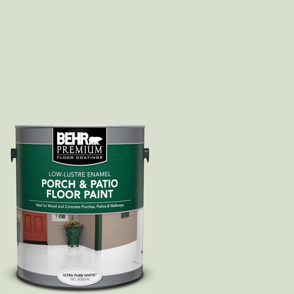1 gal. #PPL-47 Sage Tint Low-Lustre Enamel Interior/Exterior Porch and Patio Floor Paint