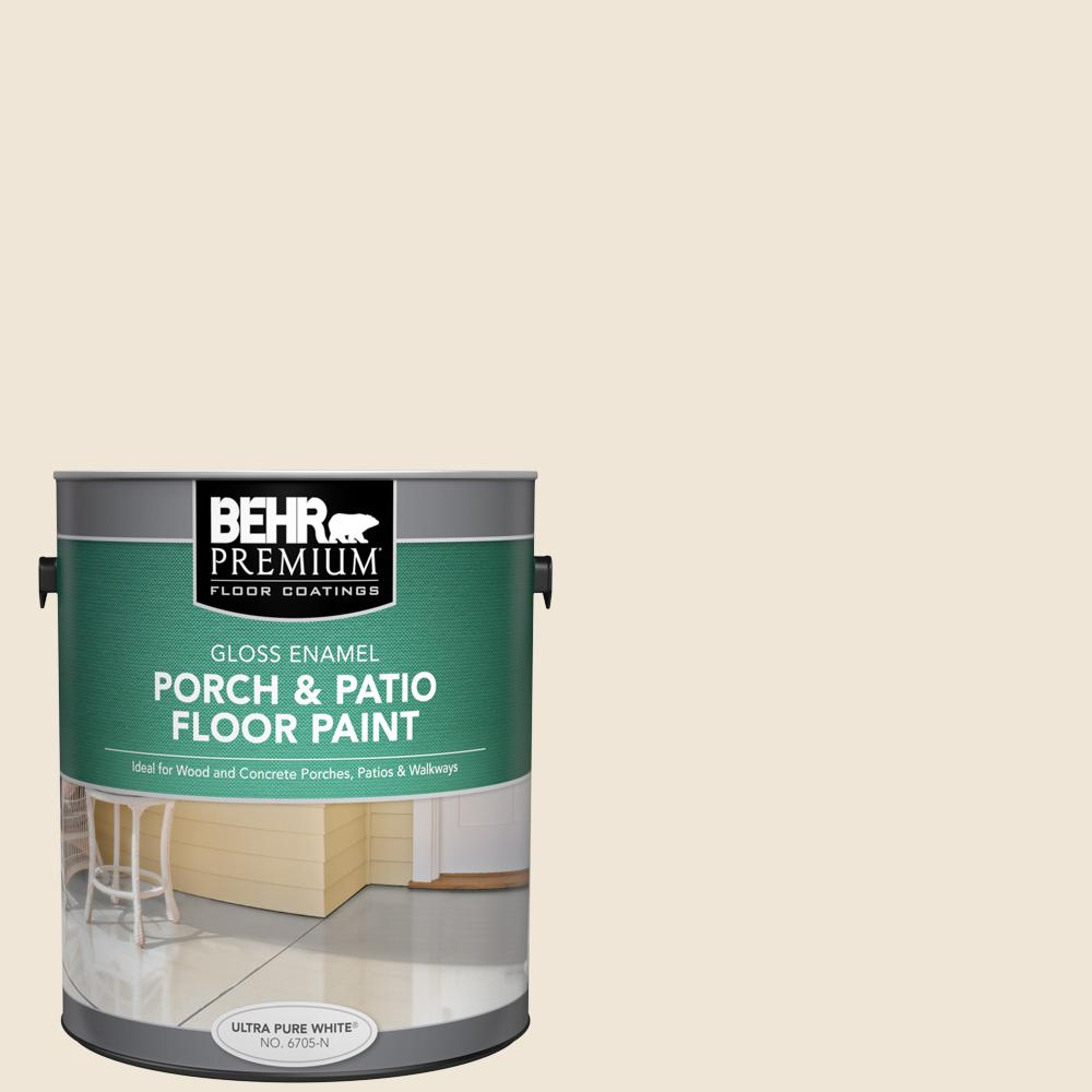 1 gal. #710C-1 Parchment Paper Gloss Enamel Interior/Exterior Porch and Patio Floor Paint