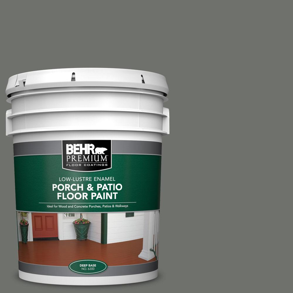 5 gal. #SC-131 Pewter Low-Lustre Enamel Interior/Exterior Porch and Patio Floor Paint