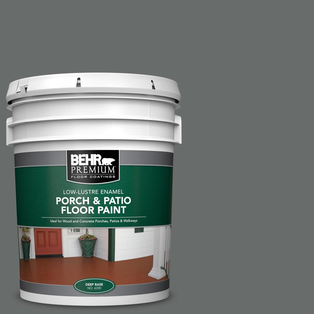 5 gal. #PPU25-03 Shadows Low-Lustre Enamel Interior/Exterior Porch and Patio Floor Paint