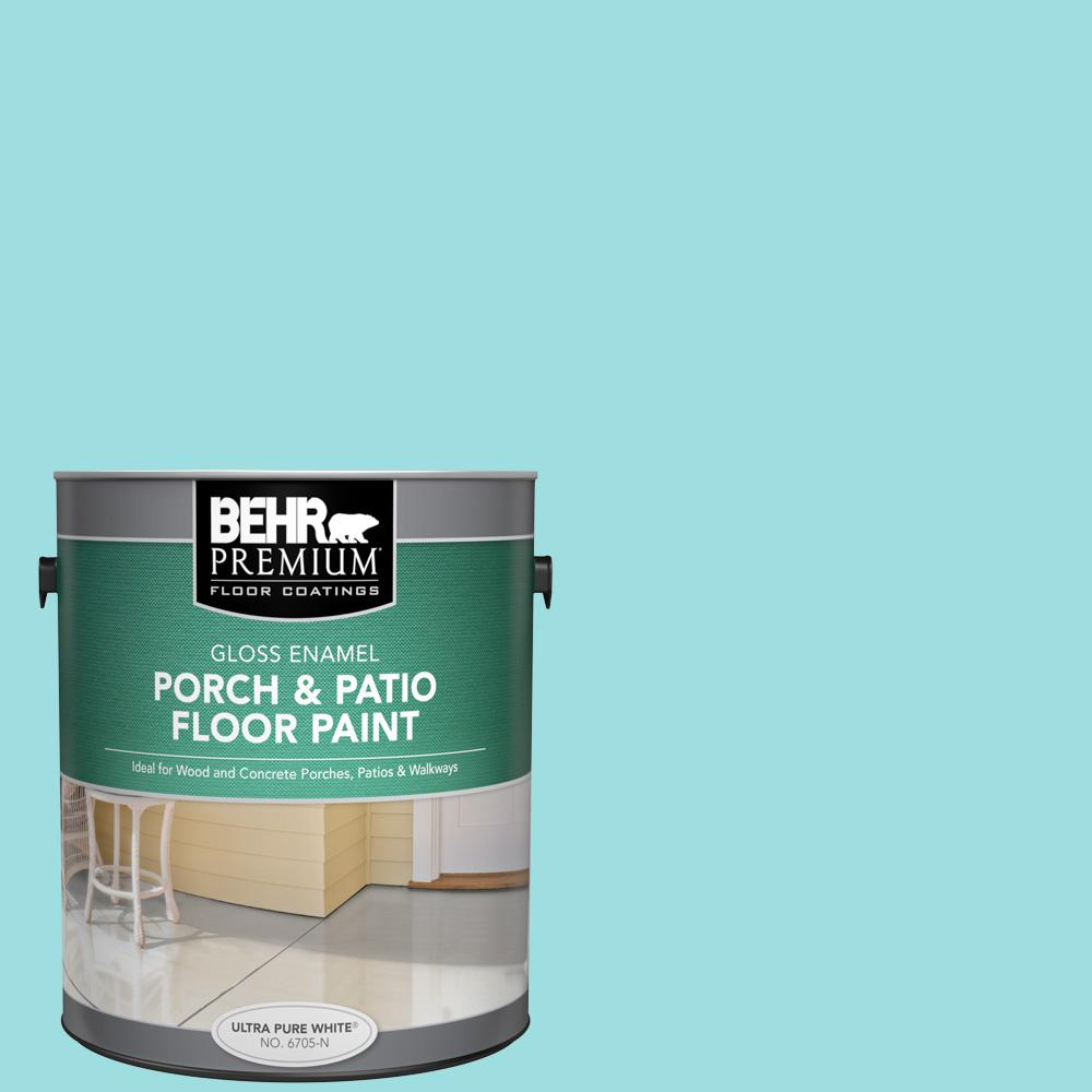 1 gal. #P460-2 Tropical Waterfall Gloss Enamel Interior/Exterior Porch and Patio Floor Paint