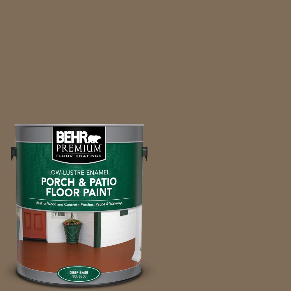 1 gal. #710D-6 Butternut Wood Low-Lustre Enamel Interior/Exterior Porch and Patio Floor Paint