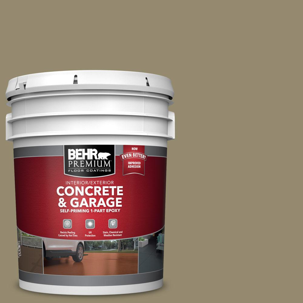 5 gal. #PFC-34 Woven Willow 1-Part Epoxy Satin Interior/Exterior Concrete and Garage Floor Paint