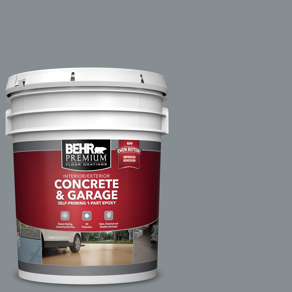 5 gal. #PFC-47 Raw Steel 1-Part Epoxy Satin Interior/Exterior Concrete and Garage Floor Paint