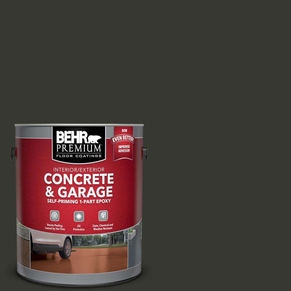 1 gal. #N520-7 Carbon Self-Priming 1-Part Epoxy Satin Interior/Exterior Concrete and Garage Floor Paint
