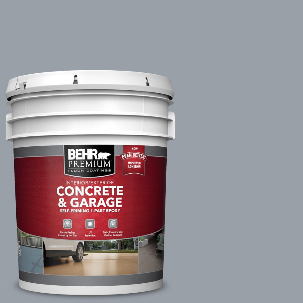 5 gal. #PFC-57 Silver Spur 1-Part Epoxy Satin Interior/Exterior Concrete and Garage Floor Paint