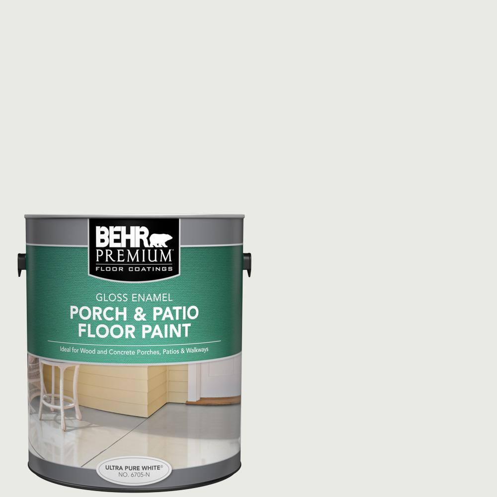 1 gal. #PPU12-12 Gallery White Gloss Enamel Interior/Exterior Porch and Patio Floor Paint